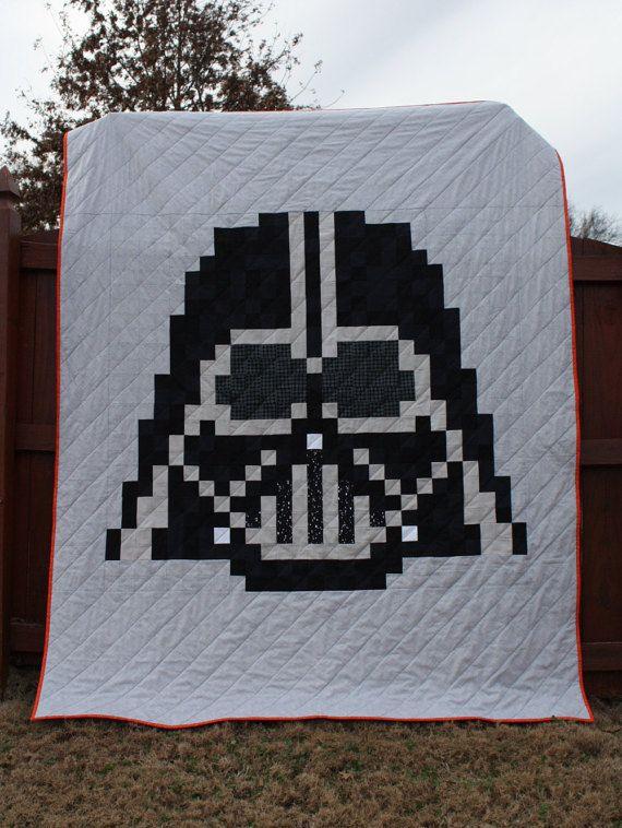 The Dark Side Quilt Pattern An Unofficial Darth Vader Star Etsy Star Wars Quilt Quilt Patterns Quilts