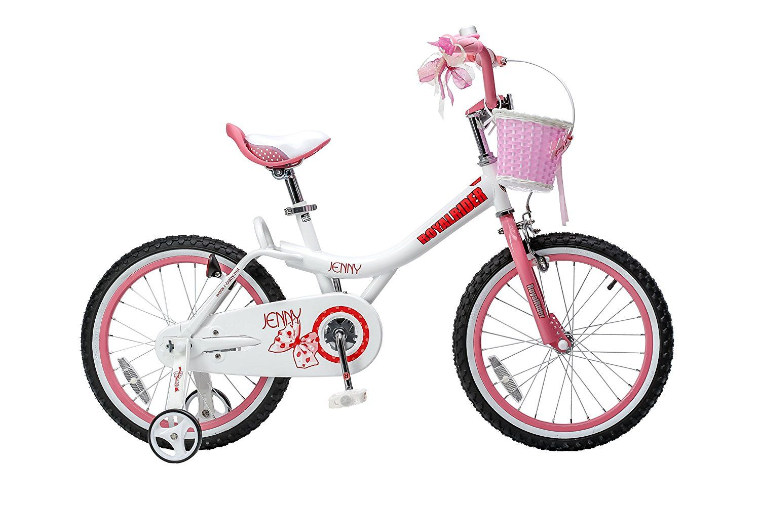 66f2f477ae0 Royalbaby Jenny Princess Pink Girl's Bike with Training Wheels and Basket  Perfect Gift for Kids 18