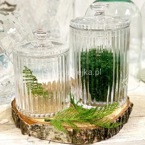 Szklany Pojemik Na Candy Bar Karbowany 21cm Glass Vase Glass Vase