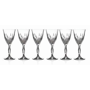 Rcr Fire 6 Oz Crystal Goblet Home Trends Water Goblets Crystal Goblets