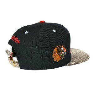Mitchell   Ness Custom Genuine Snakeskin Strapback Hat - CHICAGO BLACKHAWKS  Strap Back Hat - NHL Hat - LIMITED EDITION 56c720ee3a72