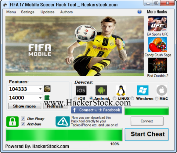 Pin By Hackerstockcom On Fifa 17 Mobile Soccer Hack Tool 2017