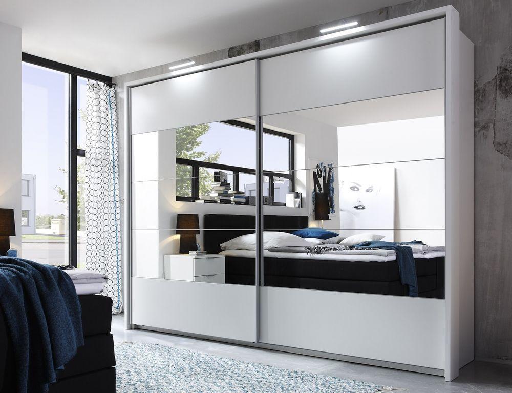 Schwebetürenschrank spiegelfront  Schwebetürenschrank PENTA 5 Kleiderschrank Schrank Schlafzimmer ...