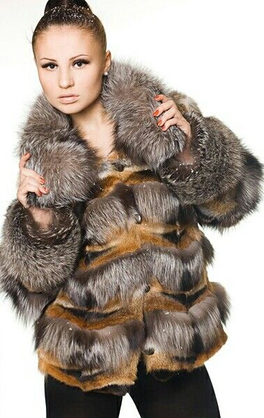 Silver and red fox fur