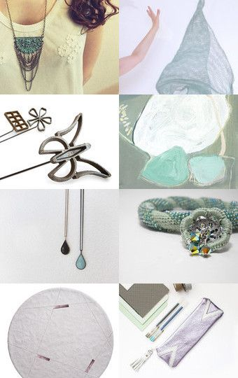 Misty mint by Caroline Mouran on Etsy--Pinned with TreasuryPin.com