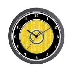 Mud Cloth pattern wall clock
