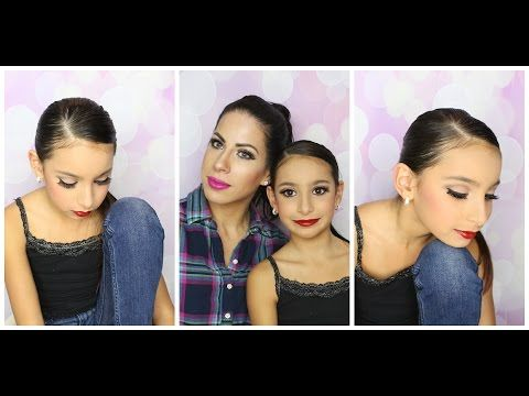 Dance Recital Makeup And Hair Tutorial Make Up For The Stage Or Competition For Kids Youtube Dance Competition Makeup Recital Makeup Dance Makeup