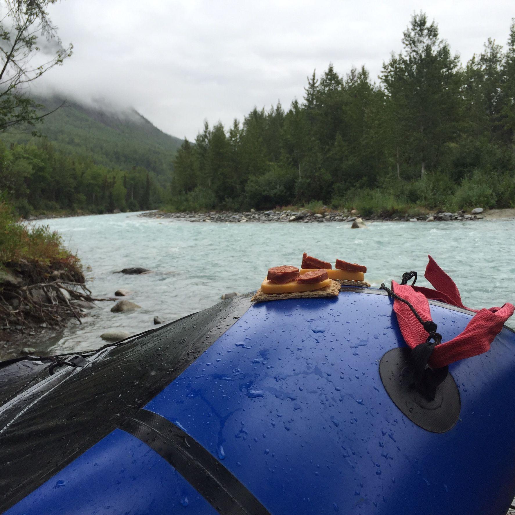 RyKrisp rafting along King's River, Alaska