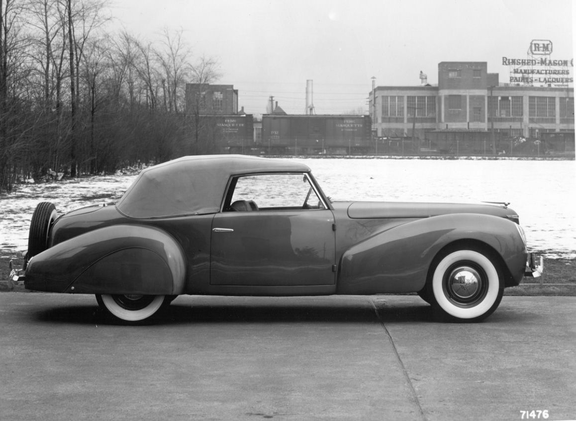 Lincoln continental prototype 1939 designed and built by e t gregorie for edsel ford