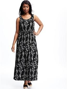 Printed Knit Plus-Size Maxi Dress | Old Navy | More to Love ...