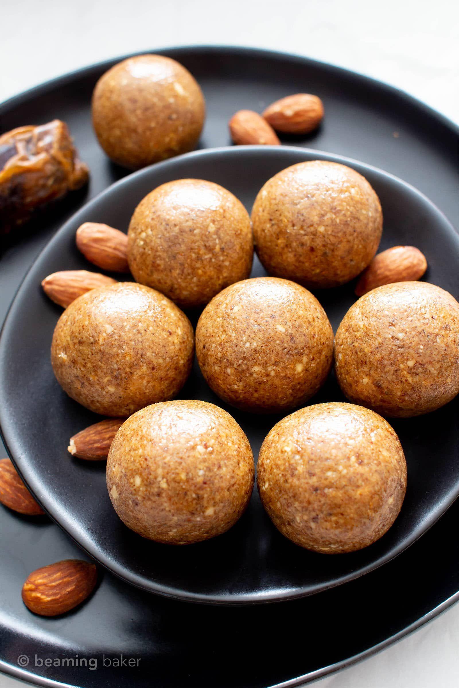 3 Ingredient Healthy No Sugar Added Paleo Energy Balls V Gf A