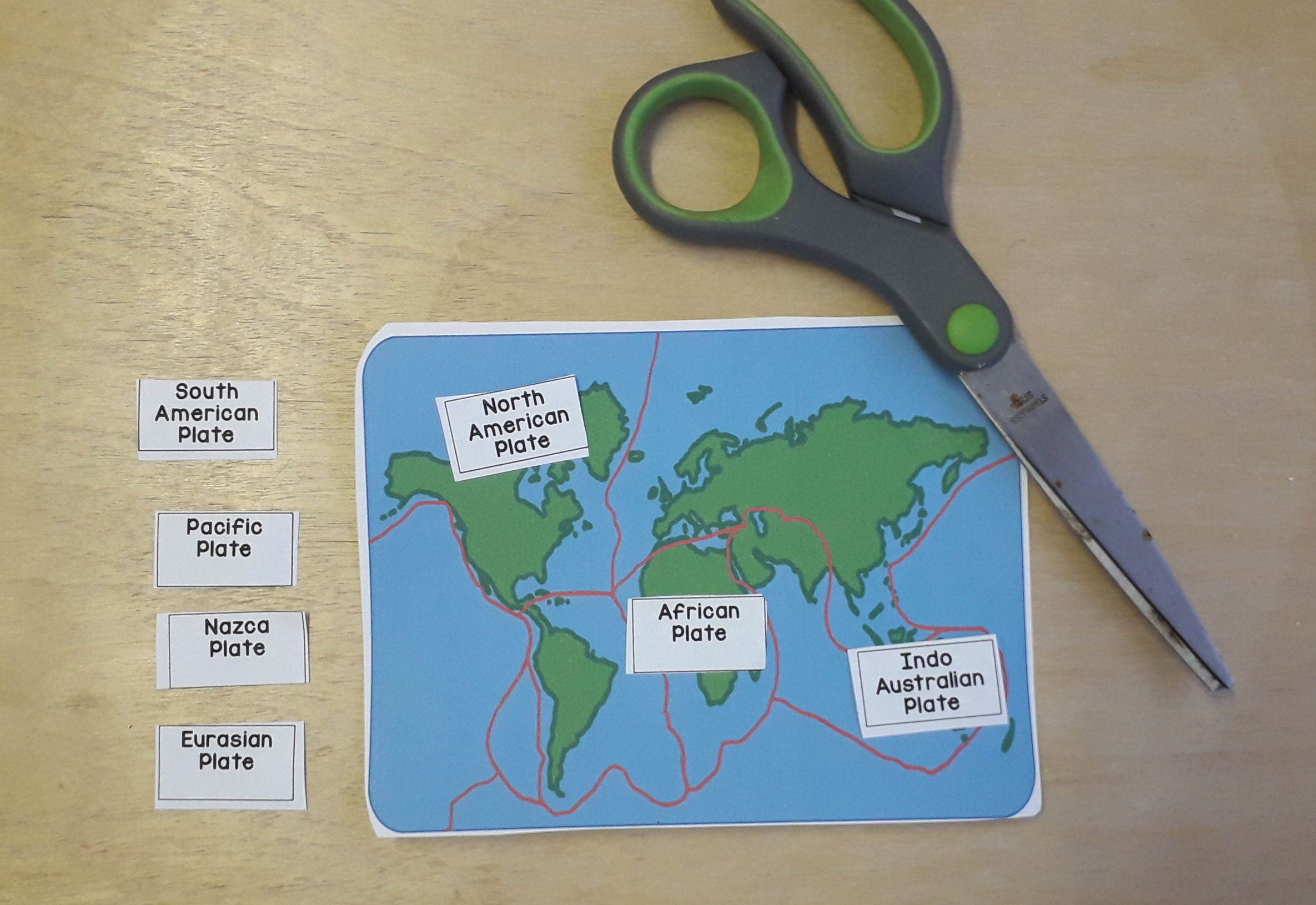 Free Interactive Plate Tectonic Matching Activity