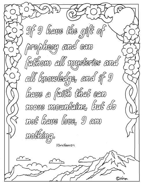 Printable 1 Corinthians 13 2 Coloring Page