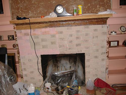 How To Remove Paint From Brick Fireplace Using Peel Away Brick