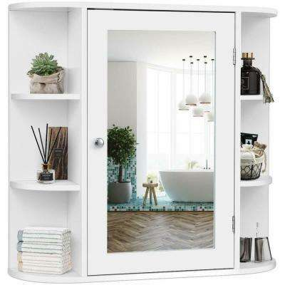Home Decorators Collection 24 In W X 30 In H Fog Free Framed Recessed Or Surface Mount Bathroom Medicine Cabinet In Brushed Nickel 45427 The Home Depot In 2020 Bathroom Mirror