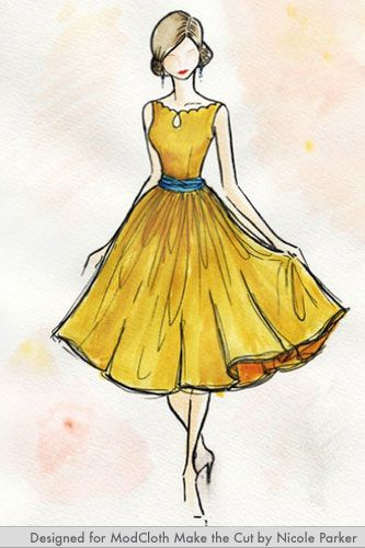 f6621a01d63fd Check out the results of Modcloth s first crowdsourced collection.  Pinterest   Search results for dress sketch Fashion ...