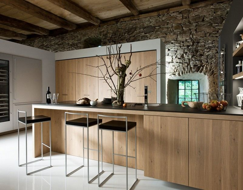 Cuisine rustique contemporaine– 50 idées de meubles en bois