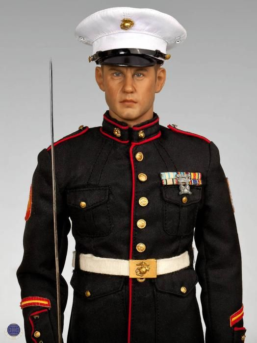 l a cal tek 1 6 scale u s marine dress blues figure usmc