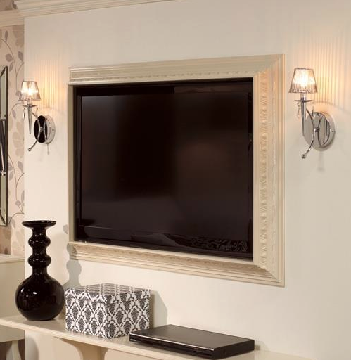 Add A Picture Frame To Your Flat Screen Tv To Blend It With Your