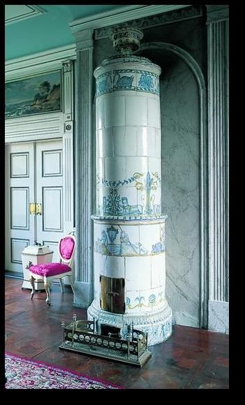 Kakkelovn Fajanceovn Fra 1840 Poele A Bois Cheminee Decoration Interieure