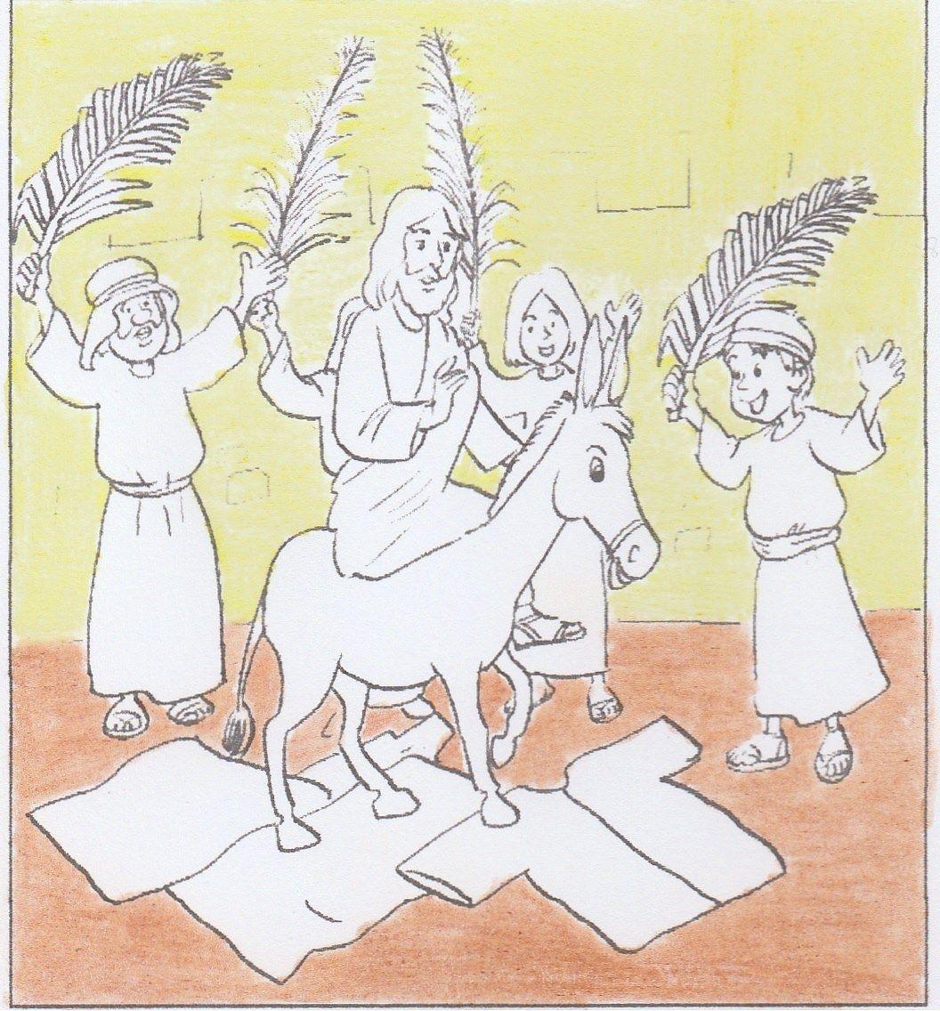 Intocht In Jeruzalem Kleuren Kleurplaten Bijbel