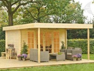 Outdoor Life Gartenhaus Ervan 300 + Vordach 3830, imprägniert