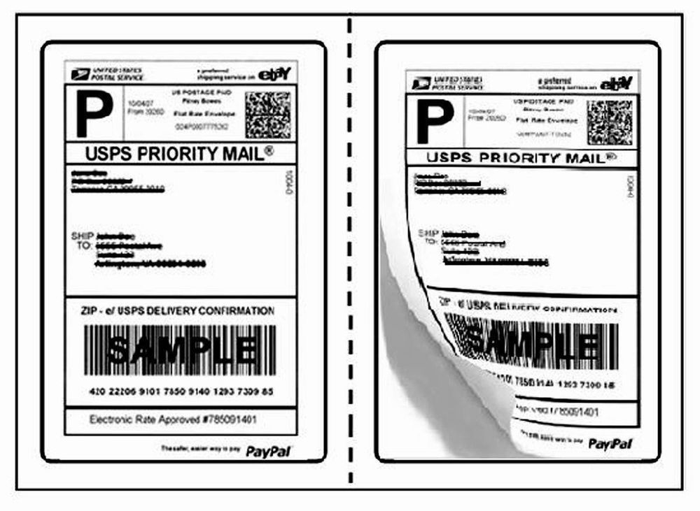 Quality Star Shipping Labels Perforated