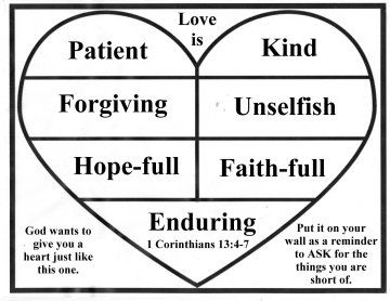 bible verse card for valentines day helping children look for and see the fruit of - Valentine Sunday School Lesson