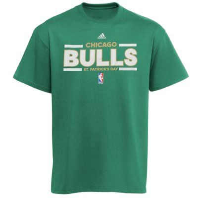 adidas Chicago Bulls St. Patrick's Day Lucking Out T-Shirt - Kelly Green