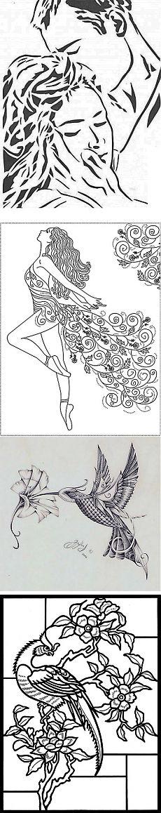 Рисунки для выжигания и росписи Романтическое