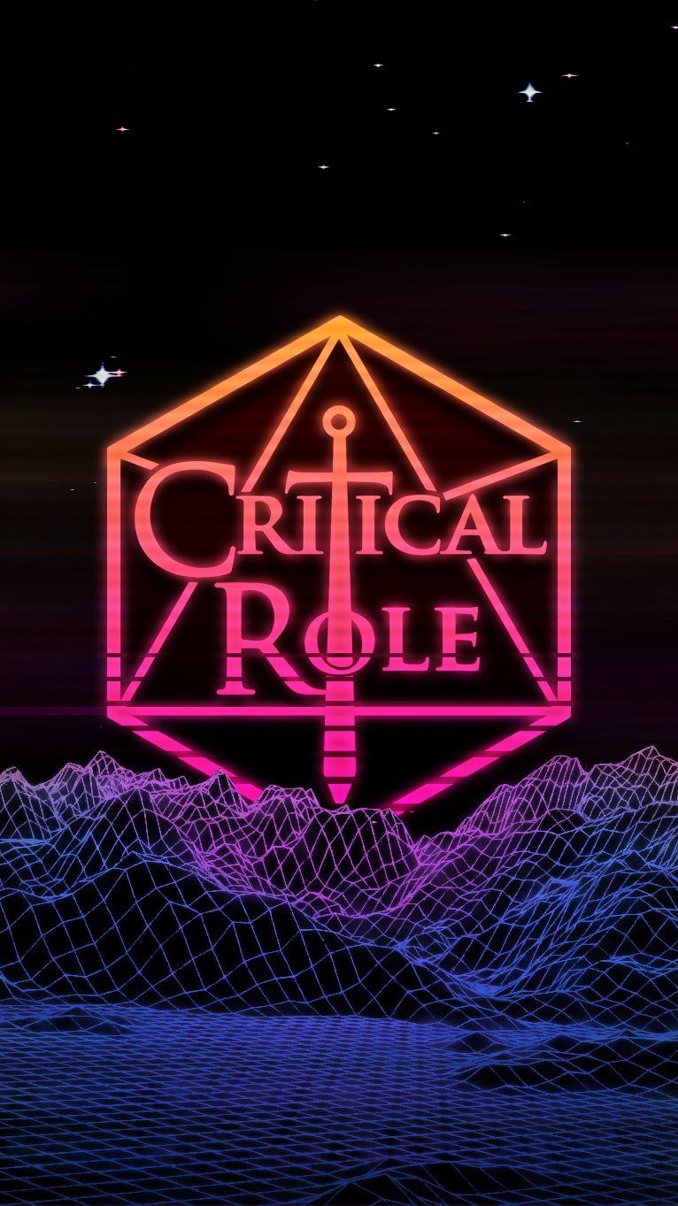 Critical Role 80's inspired logo by ArseQueef on Twitter