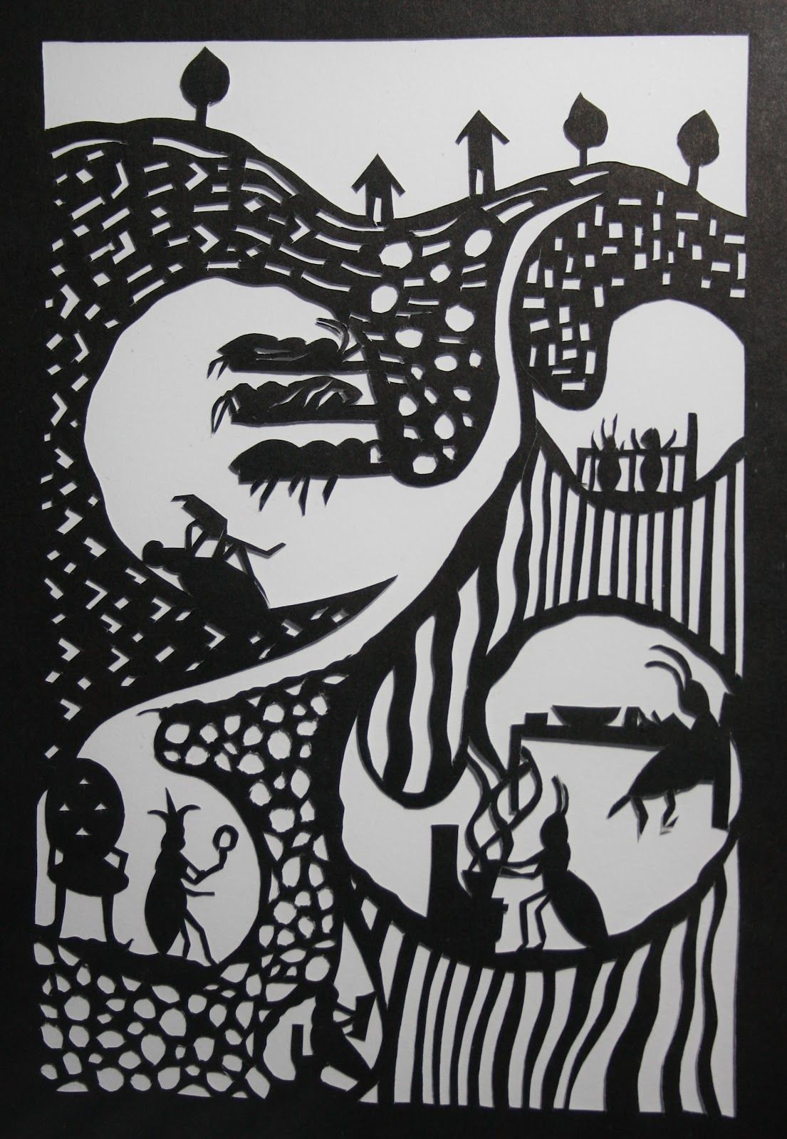 Snippety Gibbet: paper cutting