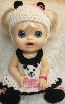 Clothes For 16 Inch Baby Alive Real Surprises Doll Panda Bear Dress Set Baby Doll Clothes Baby Alive Doll Clothes Baby Alive