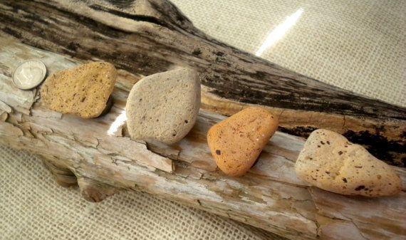 Beach Stone Magnet Set / Beach Brick Magnet Set / by BarnWoodArt