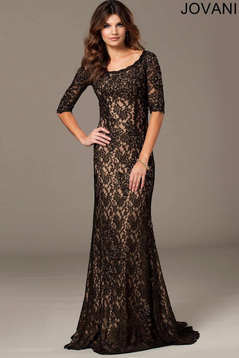 Jovani mother of the bride pinterest quarter sleeve and