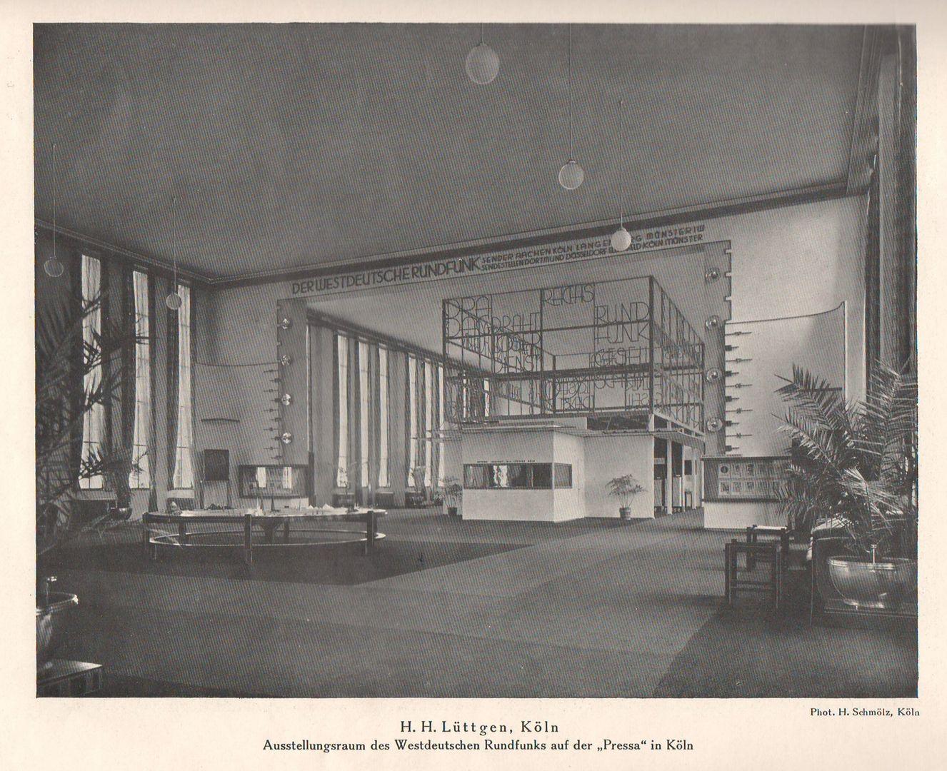 H. H. Lüttgen Ausstellungsraum der Westdeutschen