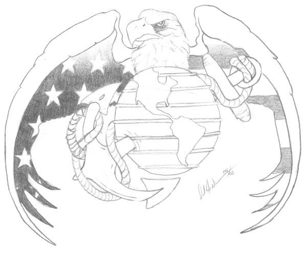Good ole EGA (Eagle Globe and Anchor) | tattoo ideas | Pinterest ...