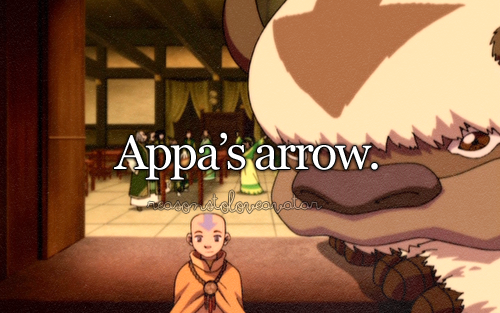 """Sokka's just jealous because he doesn't have an arrow."""