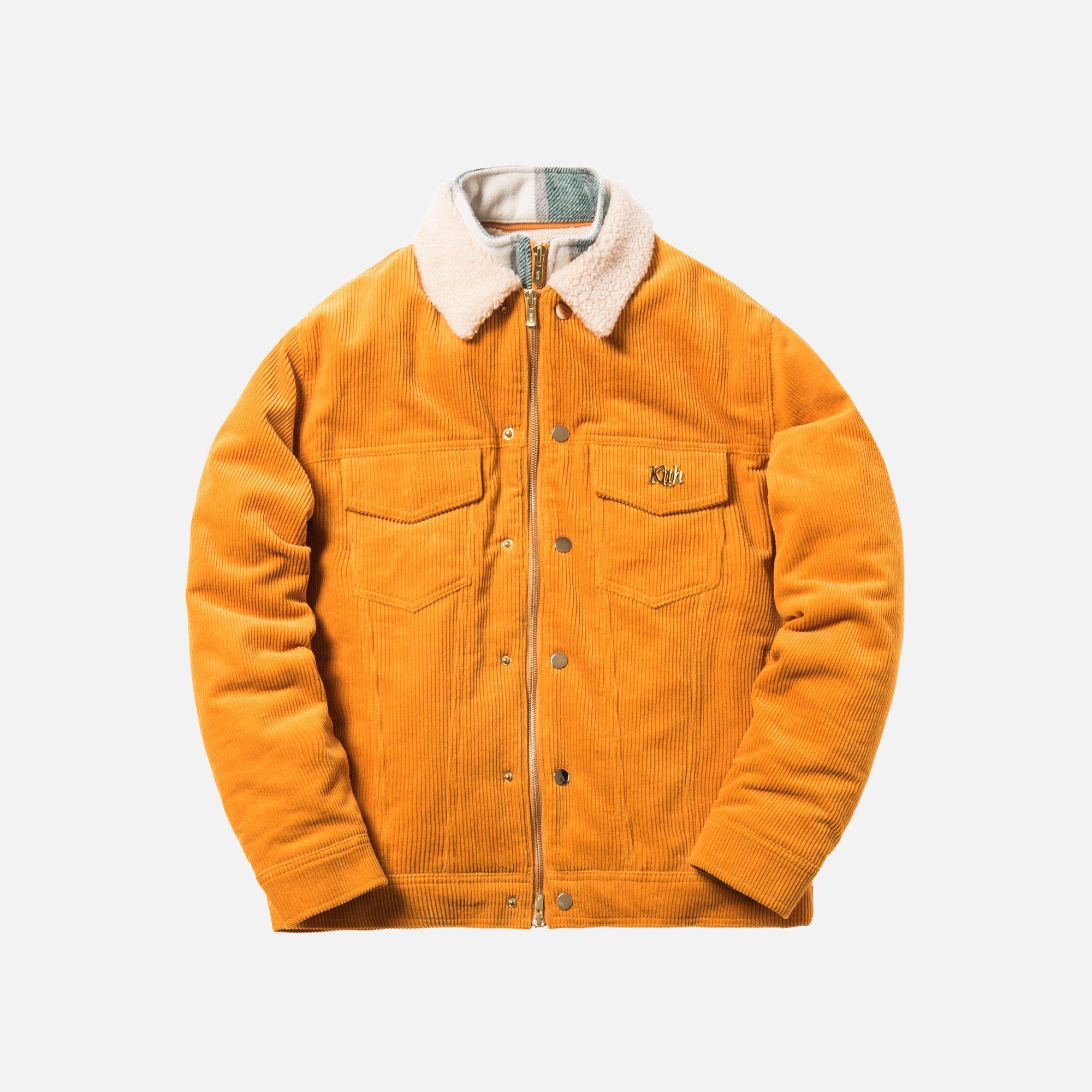 Kith Corduroy Laight Jacket Golden Yellow Jackets Corduroy Kith [ 2000 x 2000 Pixel ]