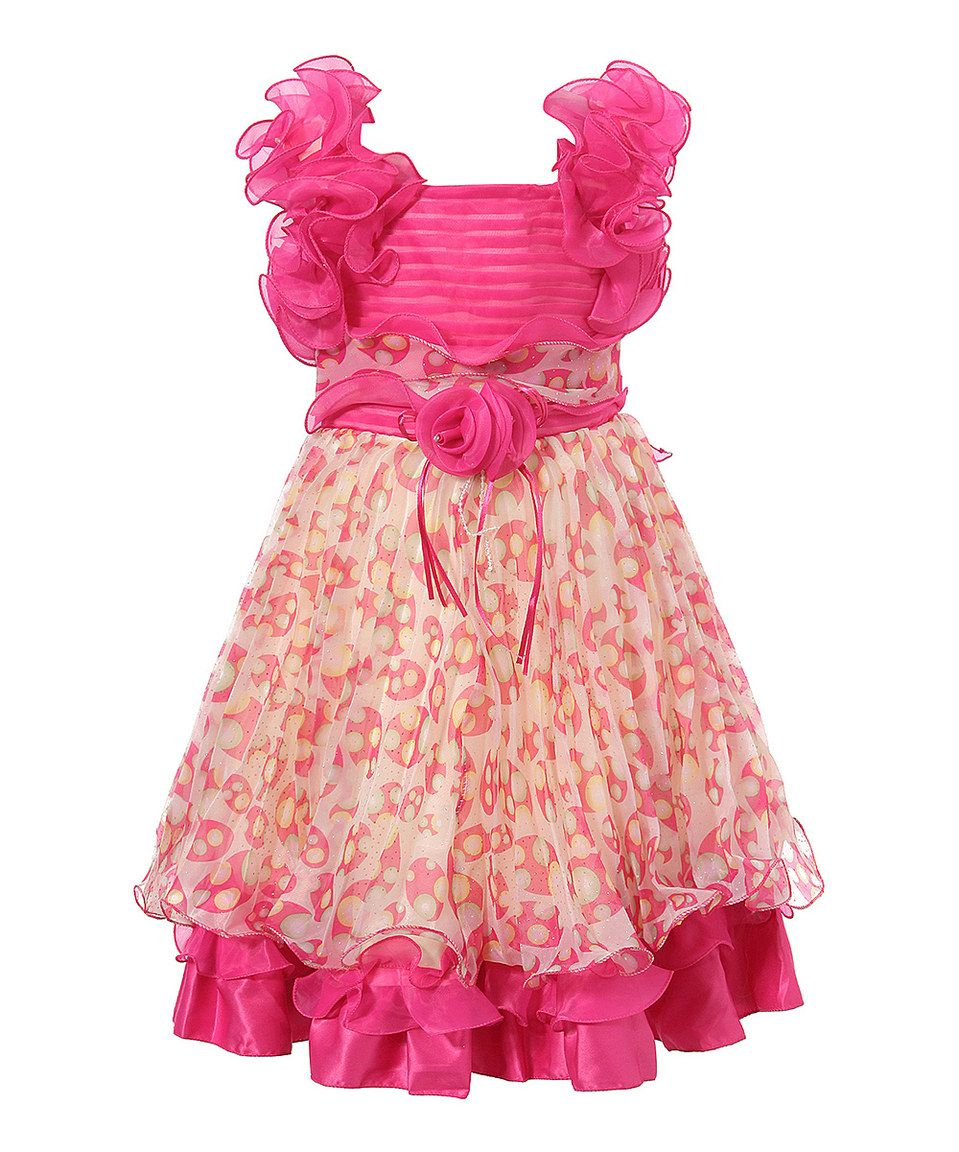 This Magenta Floral Ruffle Dress - Toddler & Girls by Richie House is perfect! #zulilyfinds