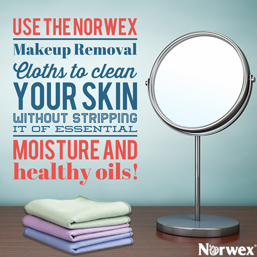Got sensitive skin? The Norwex Makeup Removal Cloth is