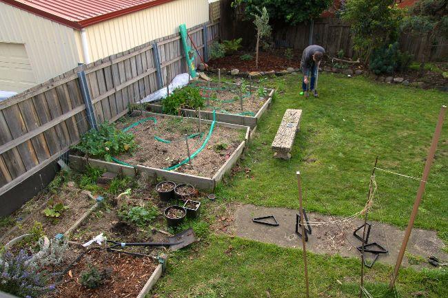 Rebuilding our raised garden beds