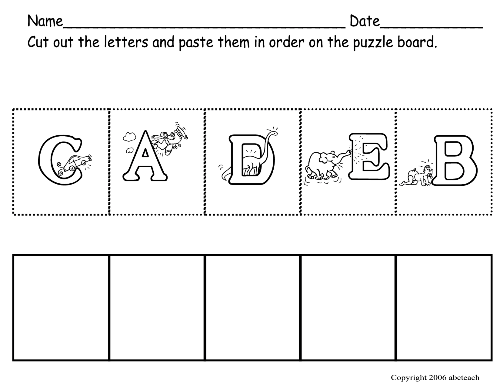Worksheets Cut And Paste Worksheets For Kindergarten preschool abc worksheets kiduls printable letters free printables for kids learning
