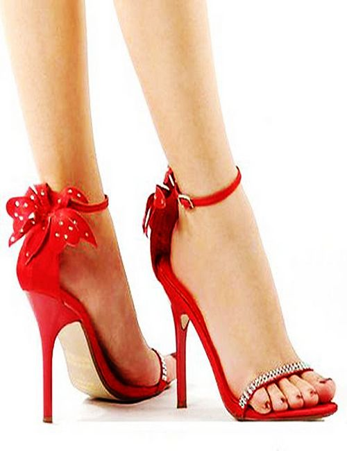 Prom Sandals in Red
