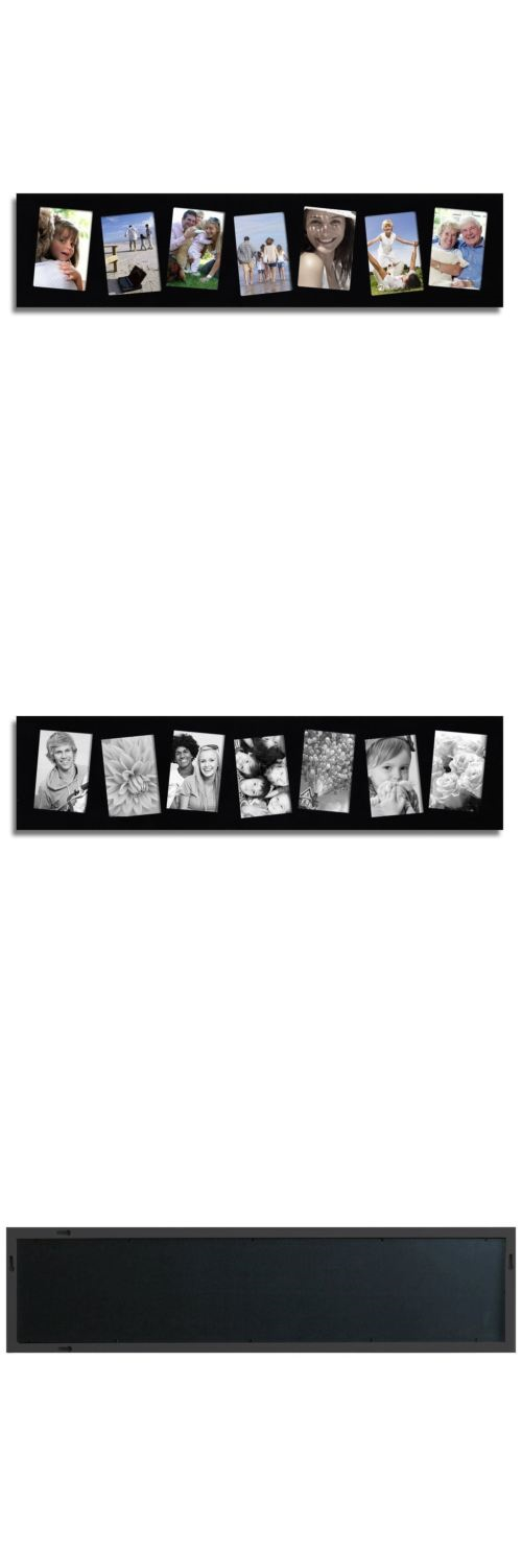 Frames 79654: Adeco 7-Opening 4X6 Black Wood Wall Hanging Collage ...