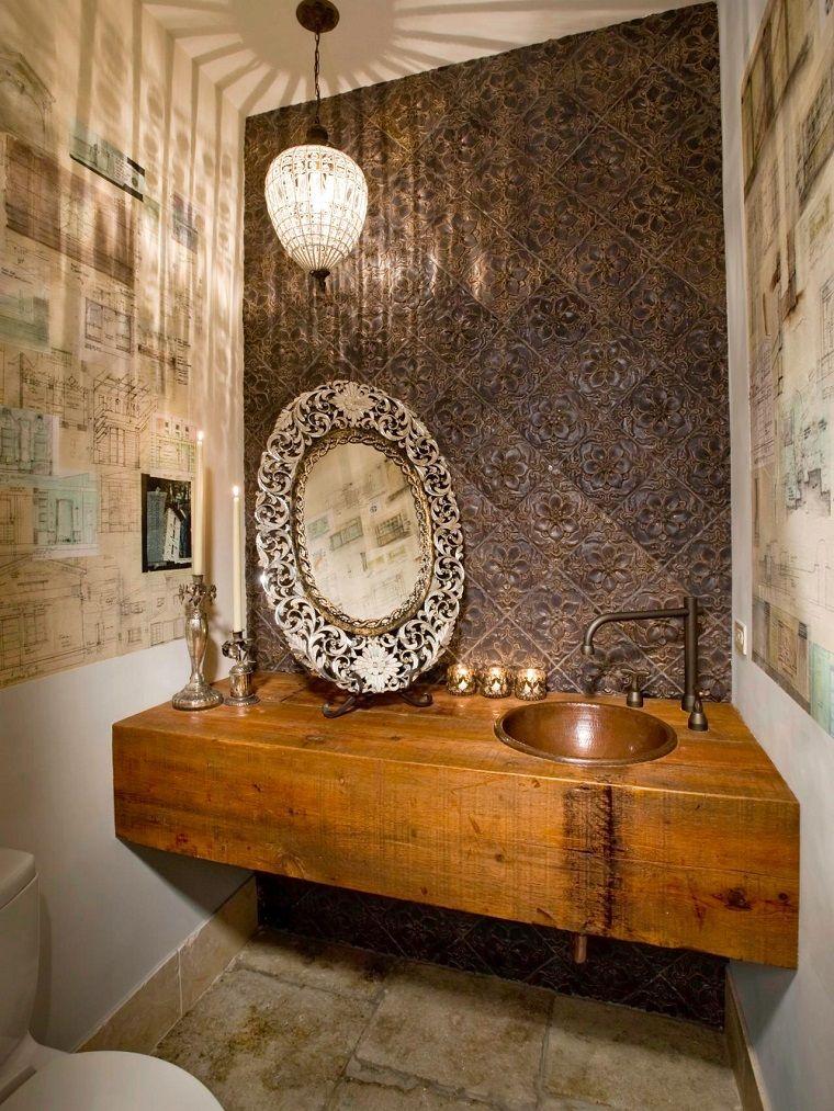 Ba os peque os modernos con decoraci nes originales ba o for Espejos bano originales