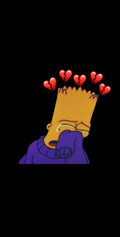 #sad #simson #brokenheart #LIFE - Phone Wallpaper