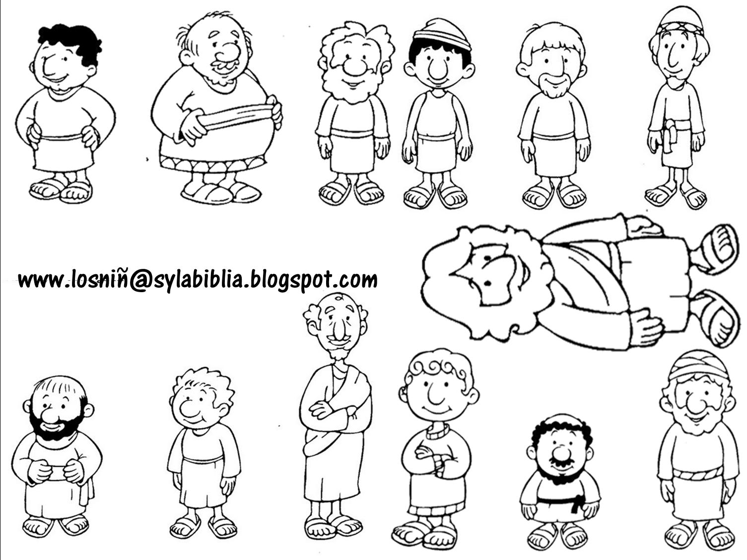Jesús y los discípulos. (Títeres) | E.D | Pinterest | La biblia ...