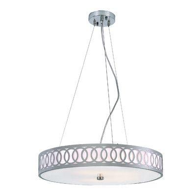 TransGlobe Lighting Contemporary 5 Light Drum Pendant MDN-904,    #TransGlobe_Lighting_MDN-904