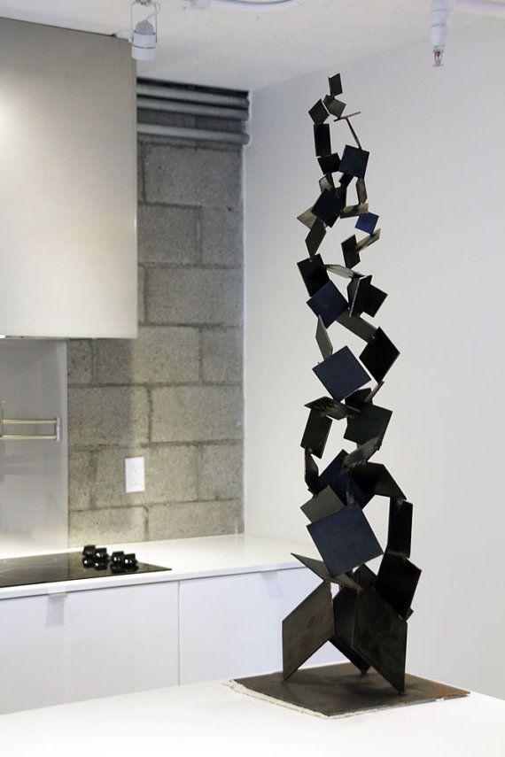 metal brutalist abstract art sculpture modern retro standing ceramic sculpture pinterest. Black Bedroom Furniture Sets. Home Design Ideas